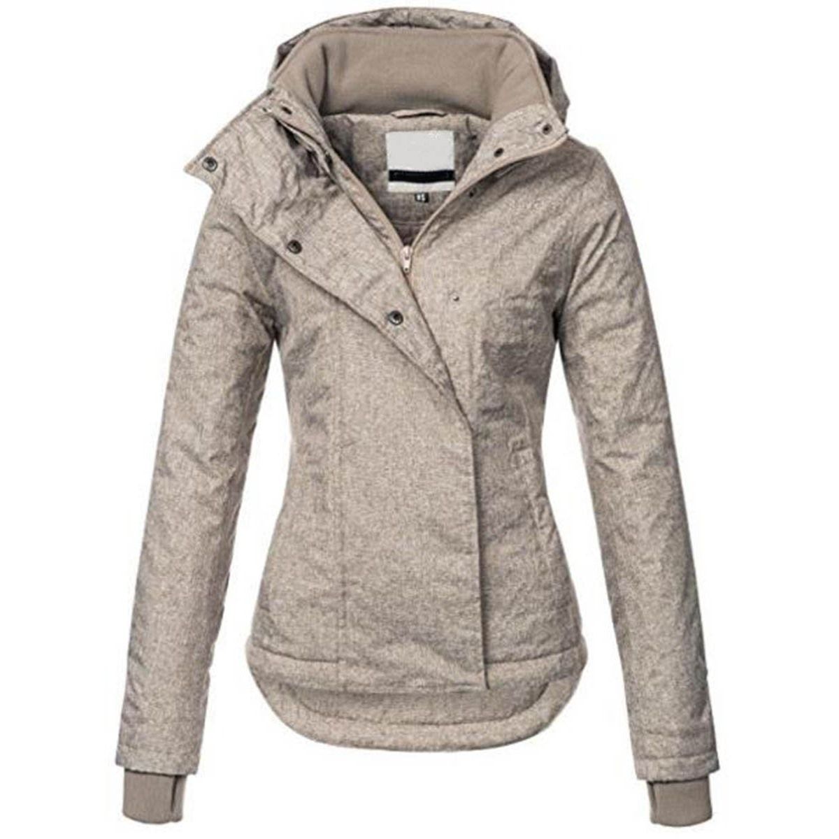 Women Casual   Basic   Outwear   Jacket   Plus Size Solid Hooded OverCoat Winter Lapel Slim Bomber   Jacket   Warm Thick Top Street   Jacket