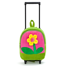NEW Girls' Rolling Luggage Flower school bag Travel Luggage Suitcase Fixed Casters plane pink blue children trolley bag backpack