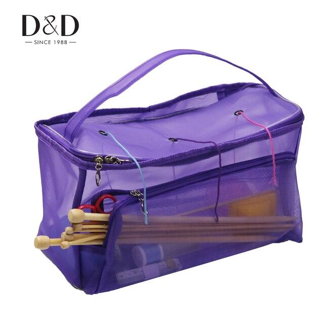 e9c05e55f Casa de Bolsa de bolsa de almacenamiento de accesorios de tejer caso tejido herramientas  bricolaje bolsa