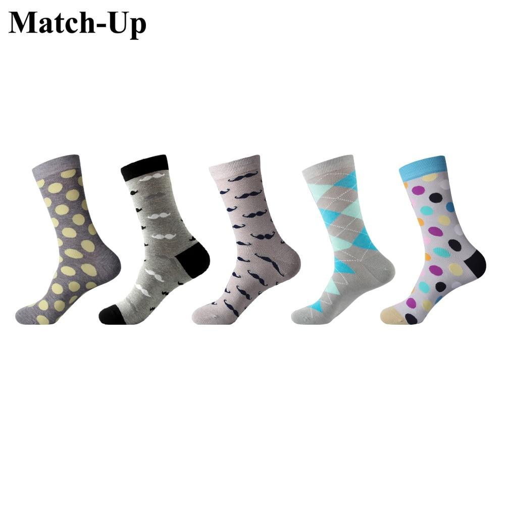 Uns 7,5-12 Gute QualitäT Spiel-up Männer Socken Mode Bunte Lange Socken Gekämmte Baumwolle Grau Serie Socken Casual 5 Paare/los