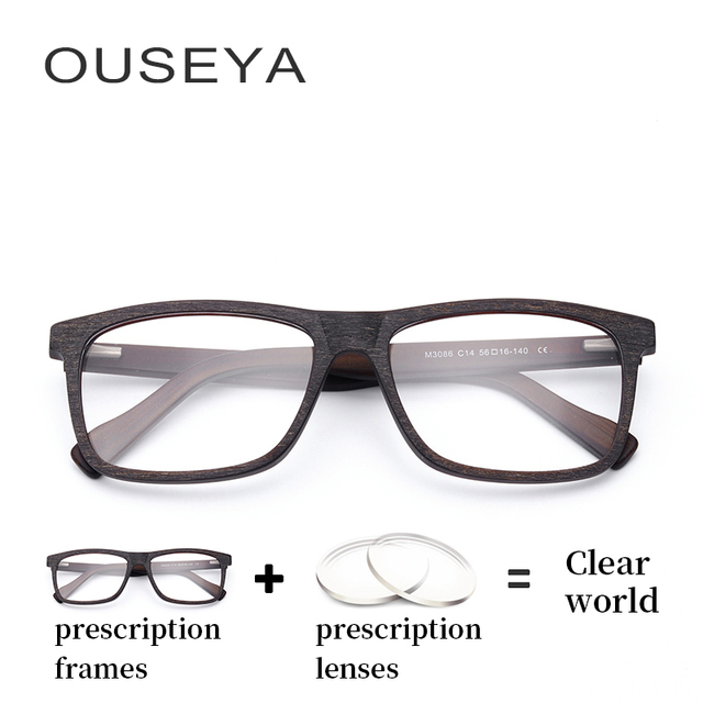 37dec712f4 Acetate Men Optical Spectacles Vintage Oversized photochromic Male Myopia  Blue Light Thin Computer Eyeglasses  M3086