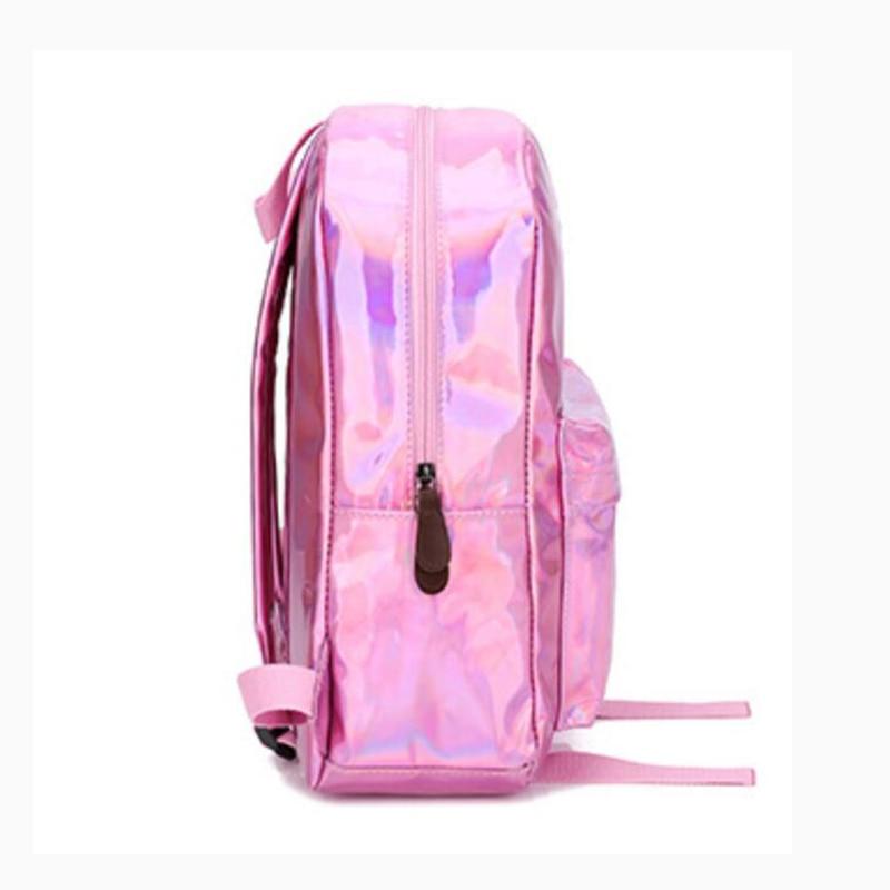 HTB1 Oq6bwKG3KVjSZFLq6yMvXXa5 Yogodlns 2019 Holographic Laser Backpack Embroidered Crybaby Letter Hologram Backpack set School Bag +shoulder bag +penbag 3pcs