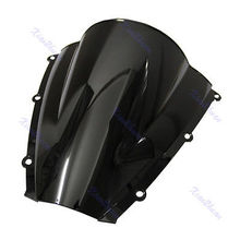 B86 Motorcycle Windshield WindScreen For Honda CBR600RR CBR 600 RR 2003 2004 Black