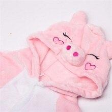 Kigurumi Pig Pajama Pink Onesie Lovely Cartoon Animal Cosplay Costume Winter Party Pajama Sleepwear Flannel Soft Cute Kids