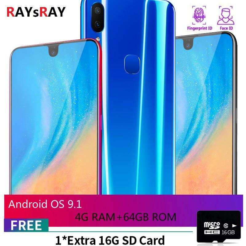 Raysray X23 téléphone intelligent 4G RAM + 64 GB ROM 3800 mAh téléphone Mobile 8MP + 3.2MP 4G LTE téléphone portable double cartes SIM reconnaissance faciale nouveau