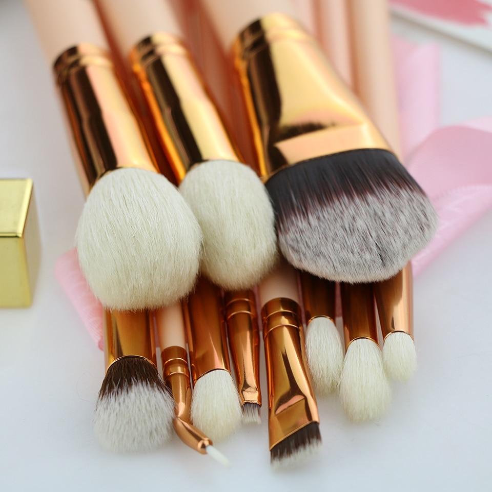 BEILI Pink 12st Rose Golden Natural Goat Hair Premium Foundation - Smink - Foto 4