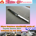 For T0Y0TA Sienna 2015 Car styling cover Stainless Steel Inner built Rear Bumper Protector trim plate pedal 1pcs