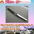 Para T0Y0TA Sienna 2015 Car styling tampa Interna construída Rear Bumper Protector guarnição de Aço Inoxidável pedal placa 1 pcs