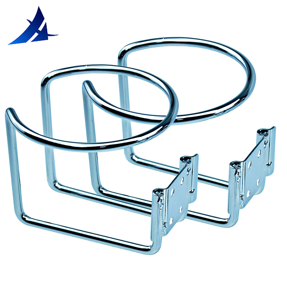 2pcs Stainless Steel Boat Accessories Marine Ring Cup Drink Holder For Marine Yacht Truck RV Camper