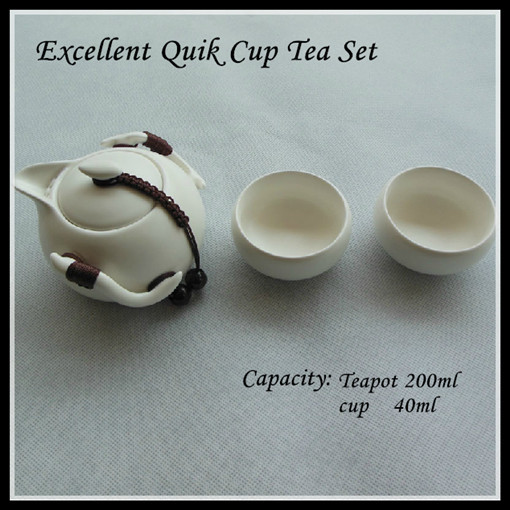 Ding Ceramics Office Tea Set Quik Cups Chinese Sets Travel Easy Cup 3 Pcs