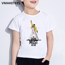 Girls & Boys Hip Hop Rock Hipster T shirt Kids Freddie Mercury The Queen Band Print T-shirt Funny Casual Baby Clothes,HKP2424