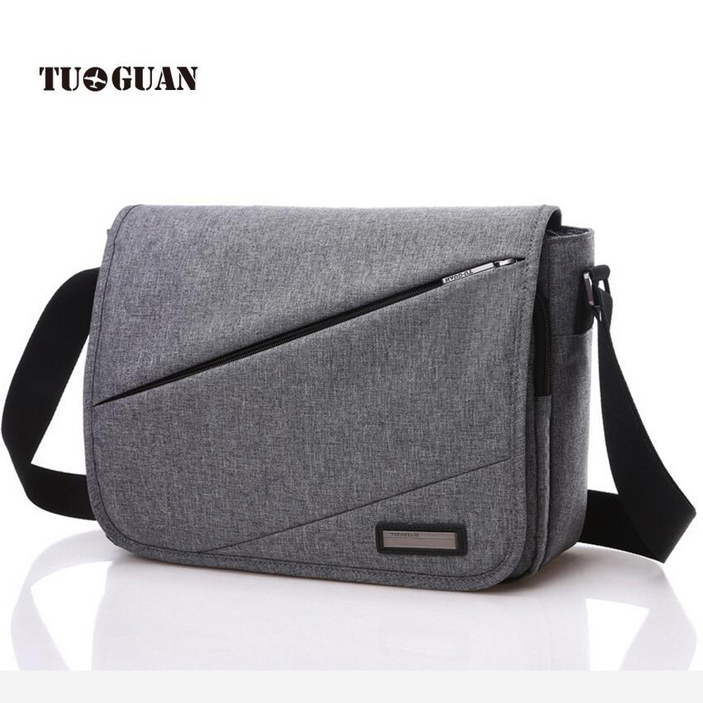 TUGUAN 2017 New Designer Unisex Men Canvas Messenger Bags Korean Style Girl Cross Body Shoulder For A4 Magazine