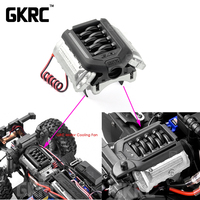 Simulate F11 V8 5.0 Engine Radiator Double Fan For 1/10 RC Crawler Car Traxxas TRX4 Defender Bronco AXIAL SCX10 RC4WD D90 D110