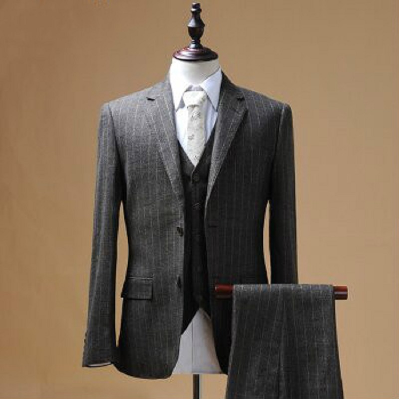 Online Buy Wholesale brown striped suit from China brown striped