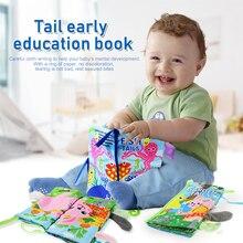 2PCS/Set Baby Soft Cloth BooksToys Newborn Early Educational Discern A