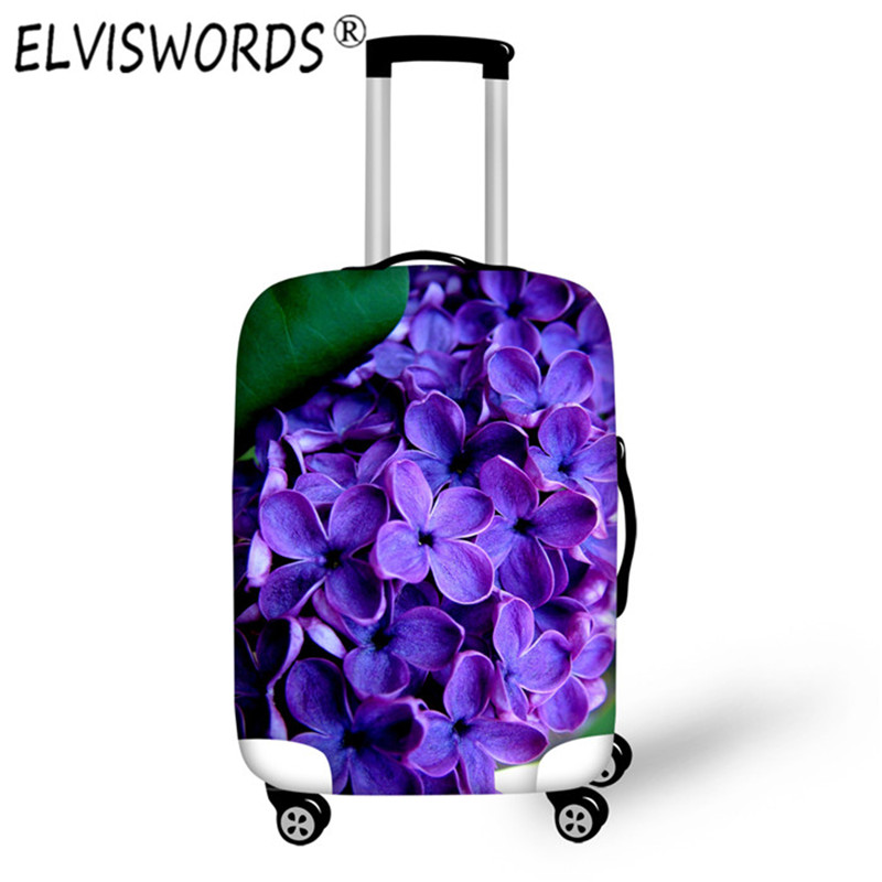 ELVISWORDS New Print Design for 18 28inch Luggage Cover Protective Suitcase Cover Trolley Case Travel Luggage