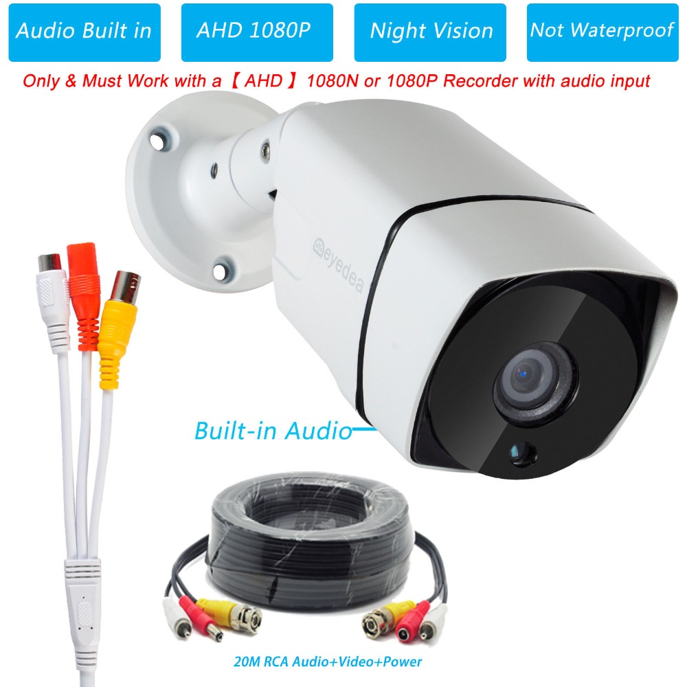 Stock in Japan Eyedea Audio AHD 1080P 2.0MP 5500TVL Night Vision Surveillance CCTV Security Camera for AHD 1080P 1080N RecorderStock in Japan Eyedea Audio AHD 1080P 2.0MP 5500TVL Night Vision Surveillance CCTV Security Camera for AHD 1080P 1080N Recorder