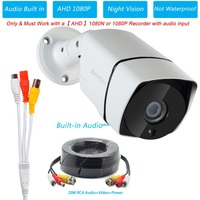 Stock in Japan Eyedea Audio AHD 1080P 2.0MP 5500TVL Night Vision Surveillance CCTV Security Camera for AHD 1080P 1080N Recorder