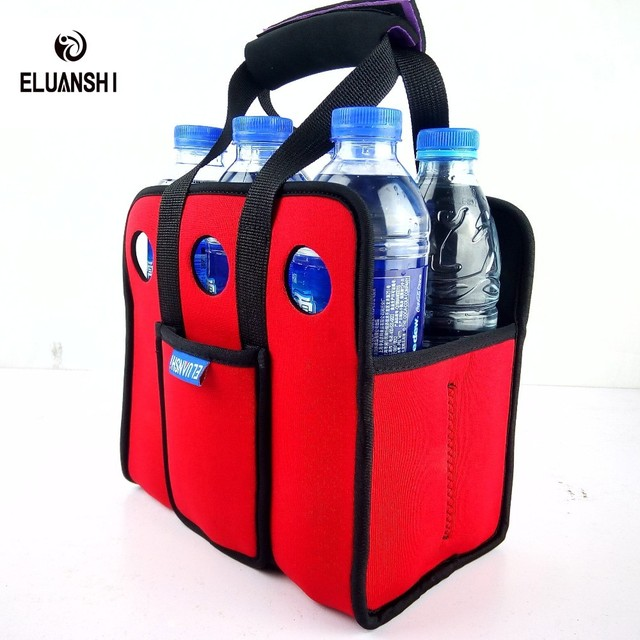 outdoor neoprene 6 can Cooler Beer backpack picnic basket bag set Wine box Chillers Frozen wedding Bottle PP tableware bar lunch