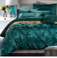 משי בגודל קינג מלכת סט מצעי סאטן אקארד המיטה אדום כחול חתונת מיטה השמיכה כיסוי סט נובל באיכות גבוהה #3