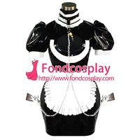 Sexy Sissy Maid Pvc Dress Uniform Lockable Cosplay Costume Tailor made[CK844]