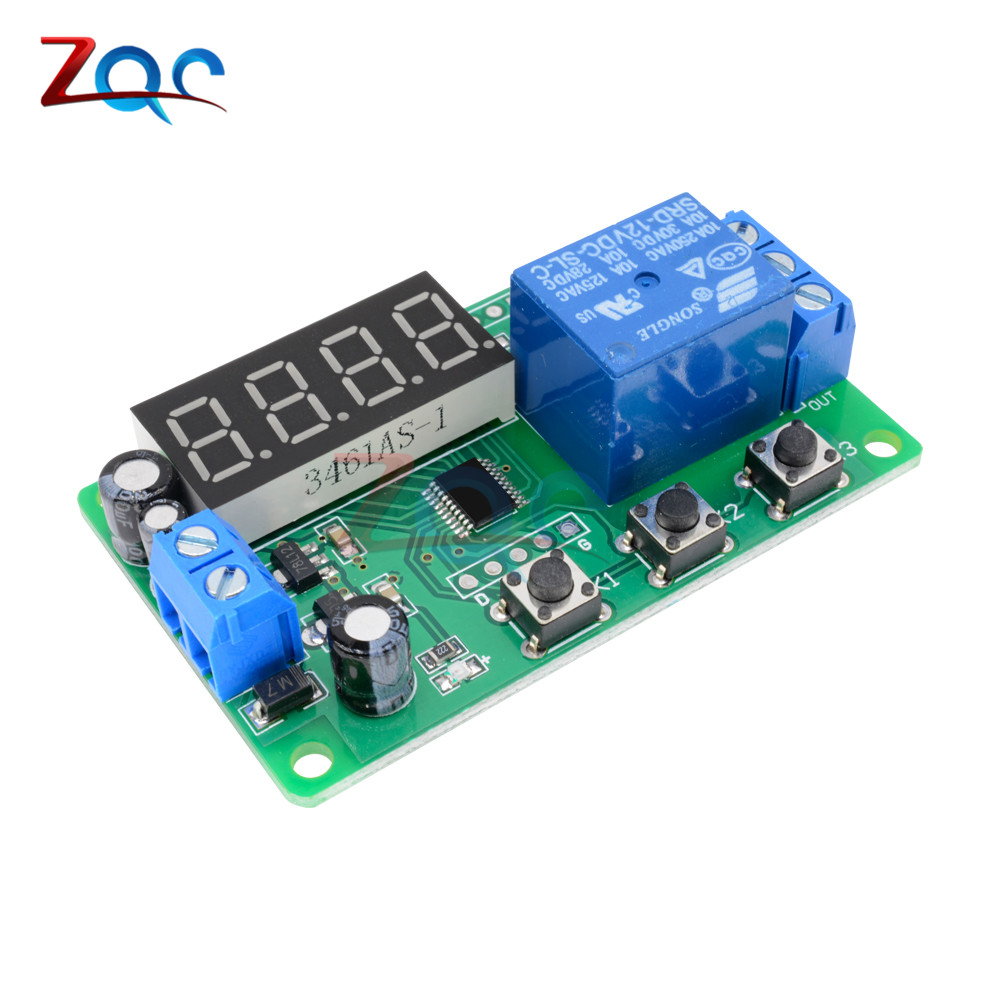 12v Led Display Timer Module Automation Digital Delay Control Electronic Switch Circuit Dc Home Relay Trigger Time Cycle Adjustable On