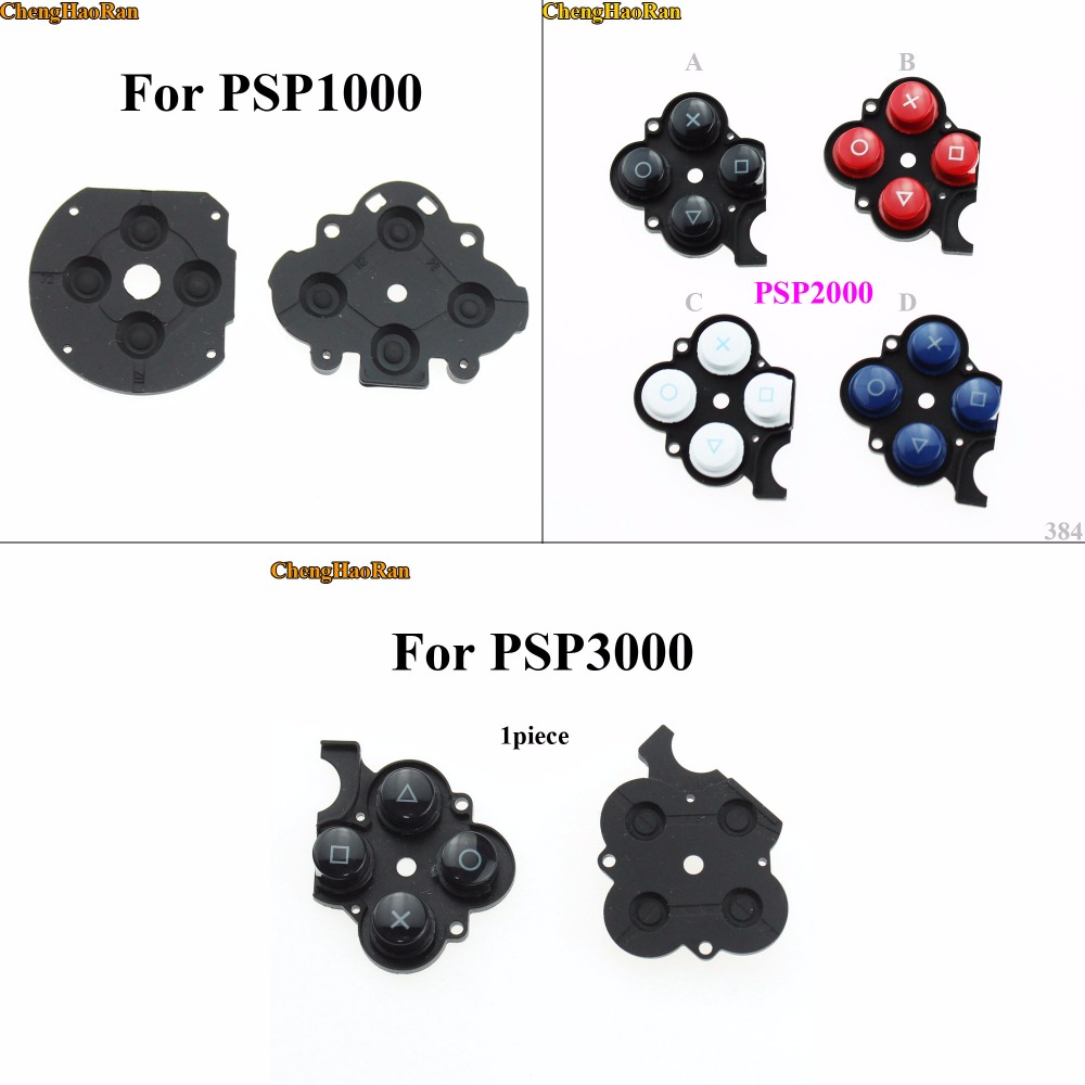 ChengHaoRan Conductive Right Button Plastic Pads For Sony PSP2000 3000,Silicon Rubber Button Switch Conductive Pad for PSP 1000ChengHaoRan Conductive Right Button Plastic Pads For Sony PSP2000 3000,Silicon Rubber Button Switch Conductive Pad for PSP 1000