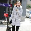 7-14 días A Moscú de Las Mujeres Chaqueta de Invierno 2017 Nueva Longitud Media algodón Abajo y Abrigos Esquimales Plus Tamaño de la Capa Delgada Chaqueta para Mujer