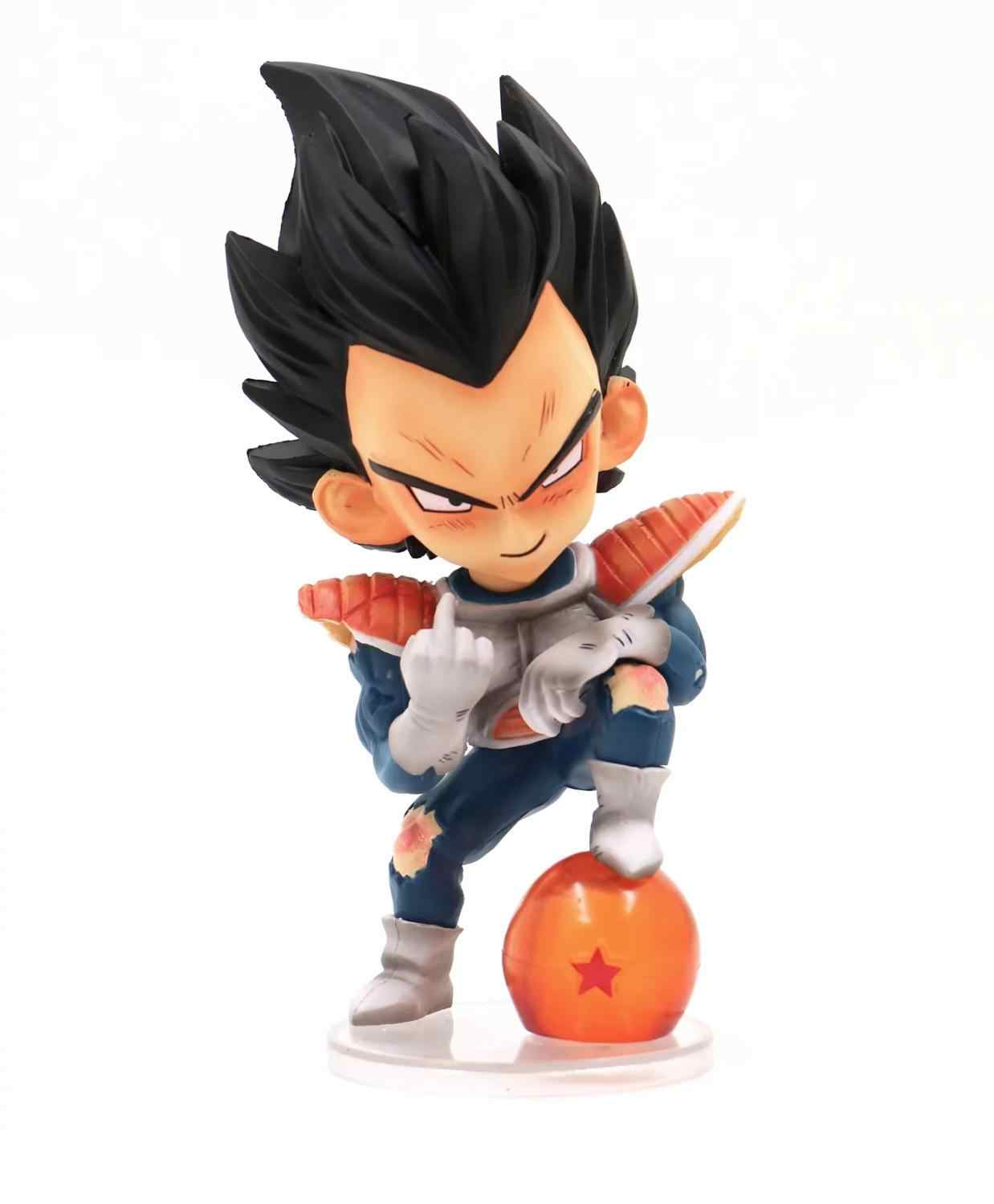 Anime 15cm Dragon Ball Z Super Saiyan Vegeta Childhood middle finger Ver PVC Action Figure Collectible Model doll toys Gift