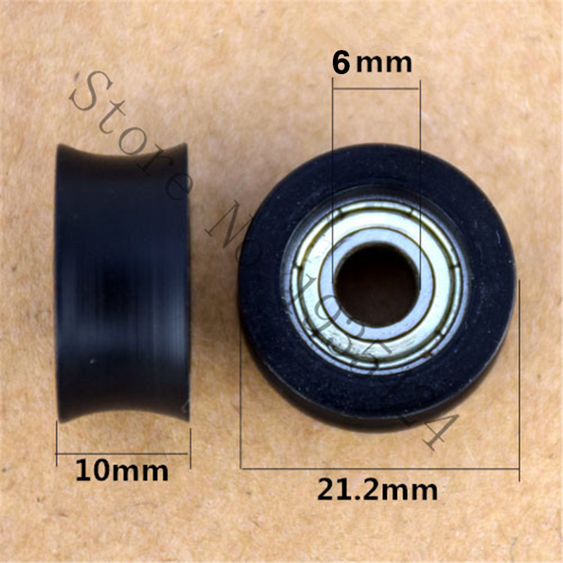 6 21 2 10mm U Type Groove Pulley Wheel Concave Round Nylon