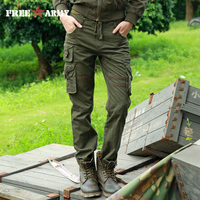 FREEARMY Brand Woman Tactical Pants Military Cargo Pants Multi pockets Women Pants Casual Trousers Army Pants with Drawstring