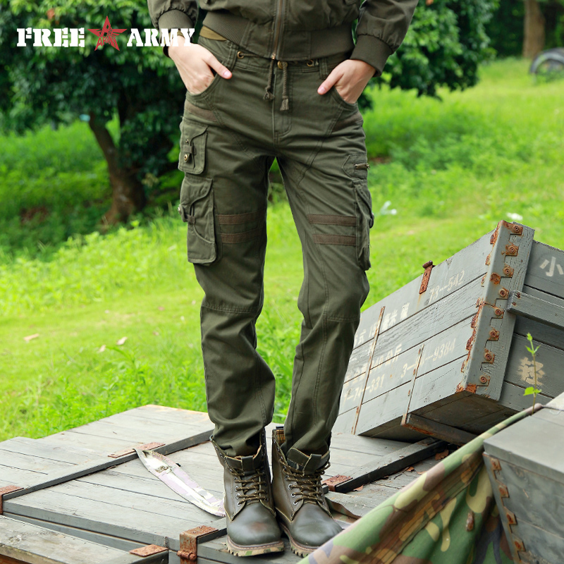 High Quality Woman Tactical Pants Cotton Military Green Cargo Pants Outdoor Pockets Casual Capri Drawstring Belt Trousers Female