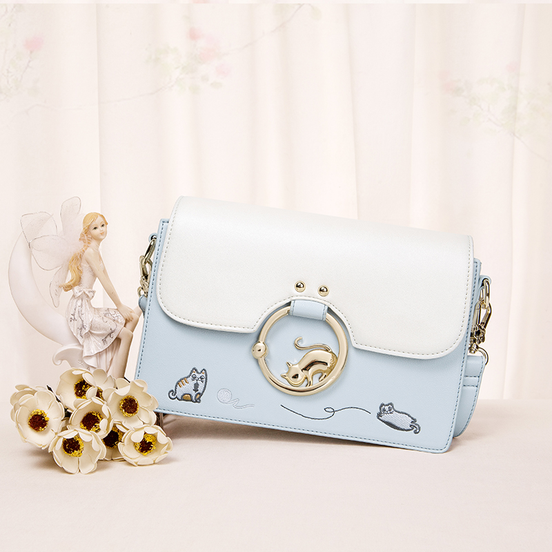 2017 summer new cute kitten bag bag all-match Shoulder Bag Messenger Bag Korean hit color small package nano ohm all summer long