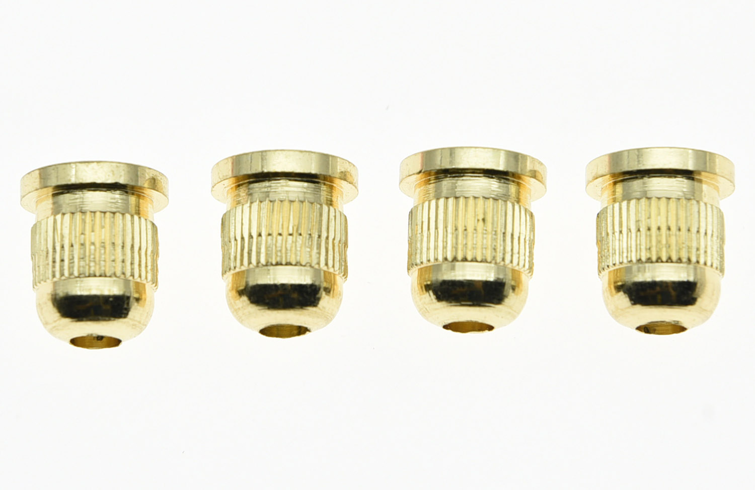 Set of 4 Gold 3/8 Inch String Mounting Ferrules Fits 4 String Bass Guitar