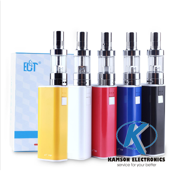 Original factory price 2200mha fixed 30W big vapor box mod 5 pin charger electronic cigarette starter