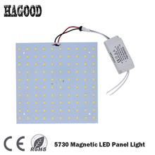 Free Shipping 1set LED Panel Lamp 180-265V 7W 10W 15W 18W 20W 25W 35W 45W 5730 Magnetic LED Ceiling Panel Light  Aluminium Board