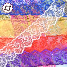 New arrived 10yd/lot Embroidered Net Lace Fabric Trim Ribbon Wedding Craft For Unilateral DIY Handicraft Home Party Decorations