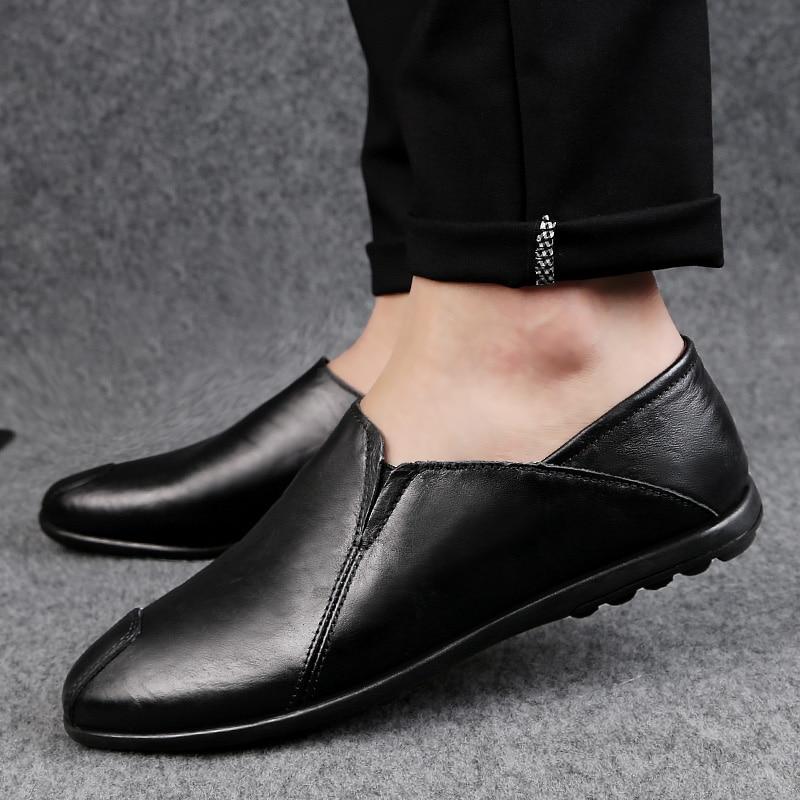 Souple Chaussures Marque Appartements Black Respirant Mosccasins Mocassins Conduite Et Mode En Casual Confortable brown Véritable Hommes Mens Cuir K3 rwqrOPYxS