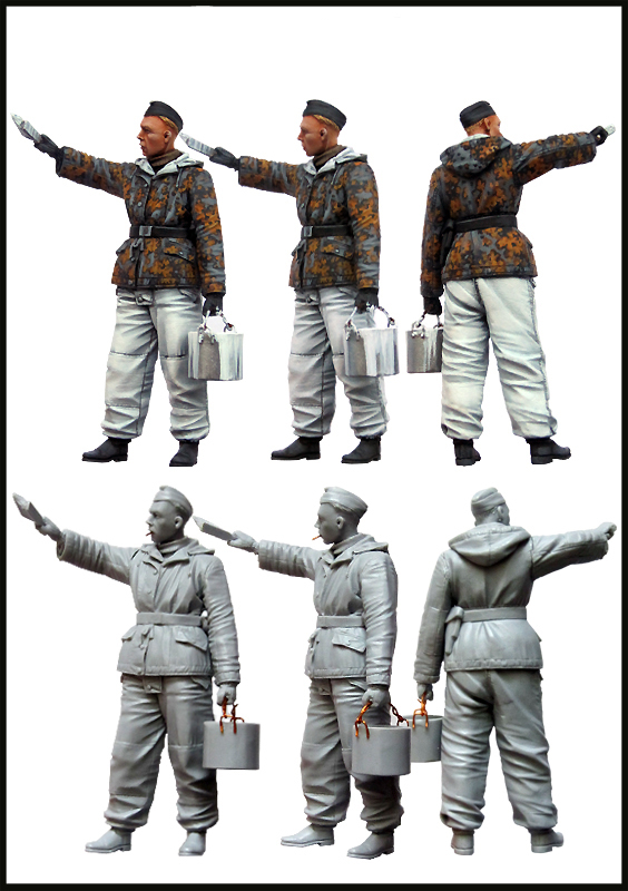 pre order-Resin toysSS Tankman.WW2(Winter painting of tank)Set-2  Free shipping 30 millennia of painting