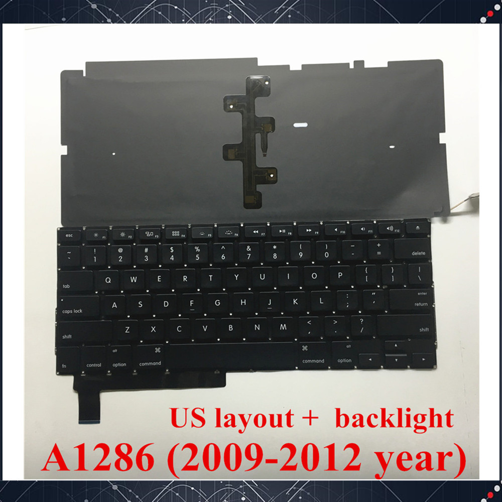 "New Macbook Pro 15/"" A1286 Spanish SP Keyboard with Backlit 2009 //2012"
