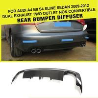 Auto-Styling Koolstofvezel Auto Diffuser Lip Spoiler voor Audi S4 Sline Bumper Alleen 2009-2012