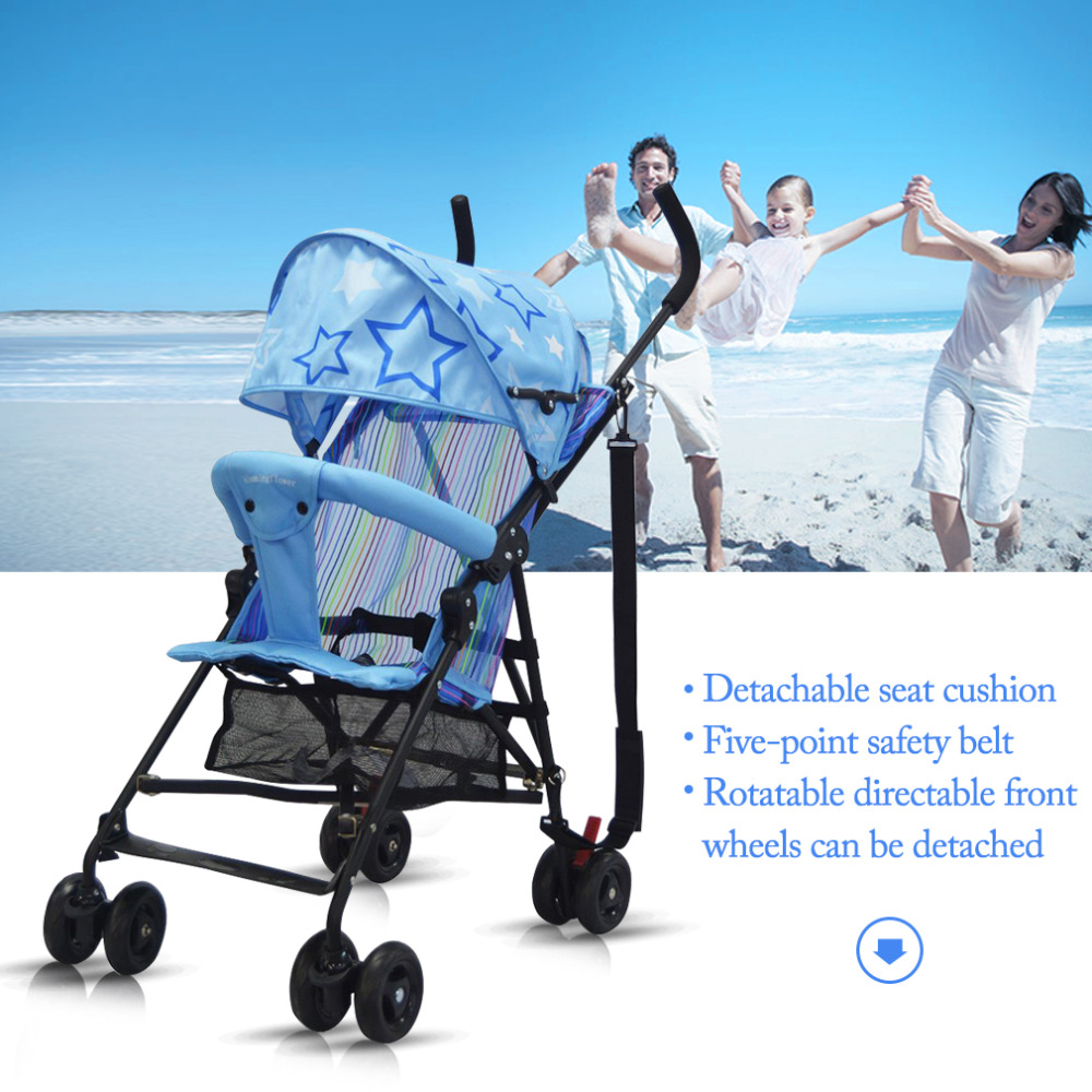 Hot Baby Stroller Ultra Light Four Wheels Foldable Portable Lightweight Stroller Easy Carry Umbrella Pram 15KG Baby Stroller New fashion black and white wide twill pattern 6cm width tie for men