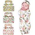 Mantas de bebé ropa de Cama de la vendimia floral Infantil Swaddle Algodón Recibir Mantas Toalla Multifuncional Sobres Para Los Recién Nacidos