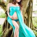 Adereços fotografia de maternidade gravidez azul dress + roupa interior roupa gravidez maternidade vestidos grávida foto atirar yl523