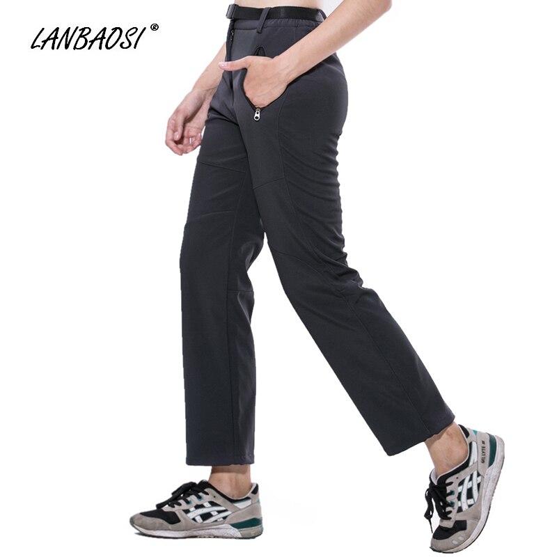 Click here to Buy Now!! LANBAOSI зима Для женщин софтшелл флис Брюки для  девочек Спорт на открытом воздухе ветрозащитный Водонепроницаемый Лыжный ... eba65b8bcb9