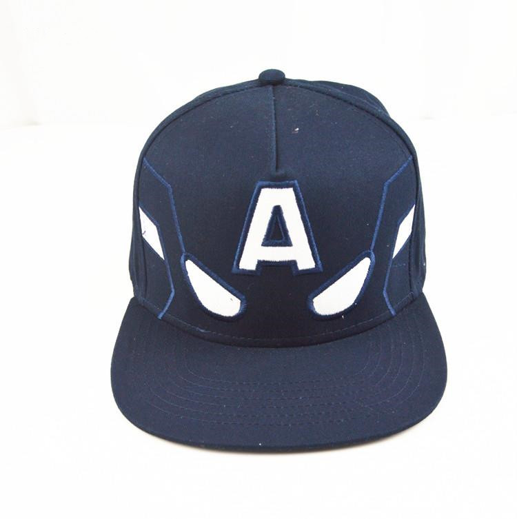 captain font deep blue hat embroidered baseball high crown caps extra