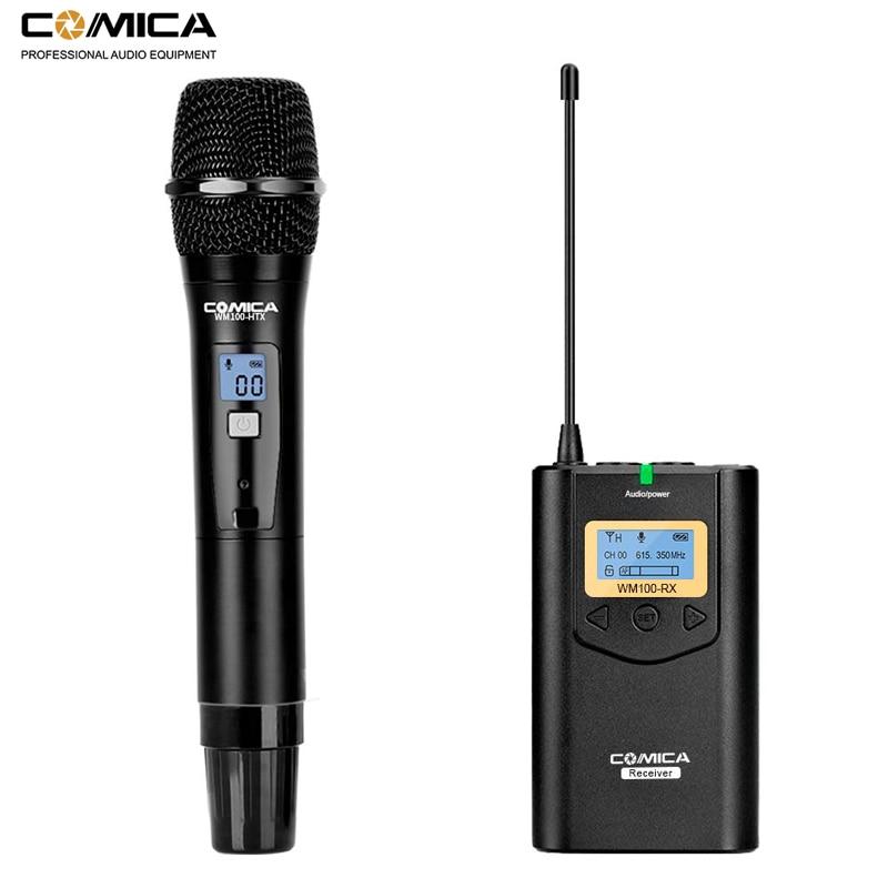 Image 2 - Comica CVM WM100 UHF 48 Channels Wireless Lavalier Lapel Microphone System for Canon Nikon Sony DSLR Cameras/ Smartphones etc.Microphones   -
