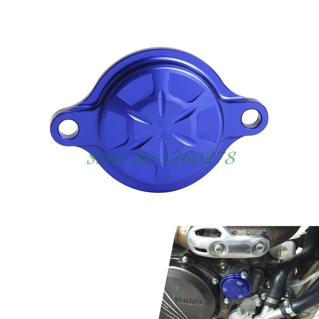 Azul CNC Billet Tampa Do Filtro De Óleo Para Yamaha WR250F 2015 2016 YZ450FX WR450F 2016