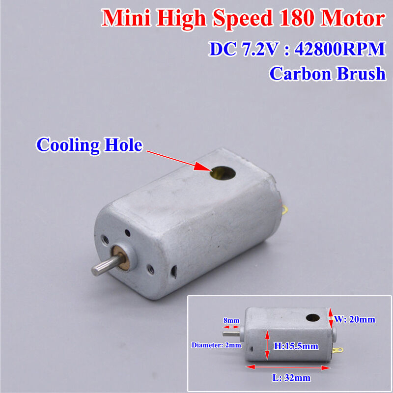 DC 3V 3.7V 24000RPM High Speed Carbon Brush FK-130 Motor DIY Slot Car Racing Car