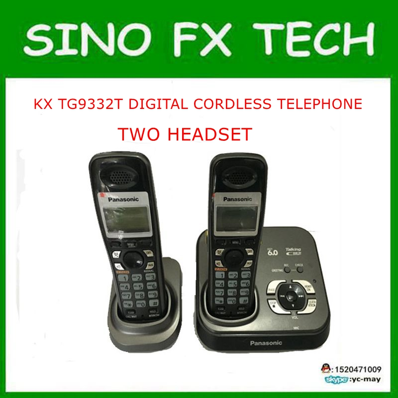 Original wireless KX TG9332T Digital PHONE 2 Handsets DECT 6 0 Digital Cordless Phone 2 Handsets